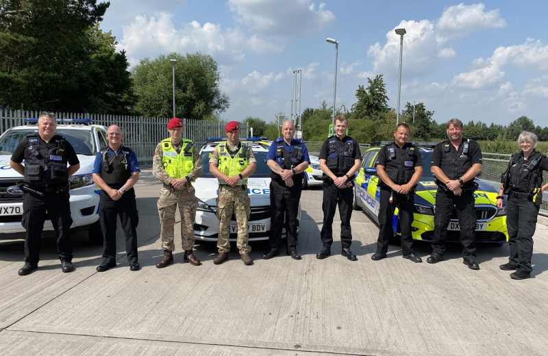 Some of the officers and PCSO's involved in Operation Shortwave