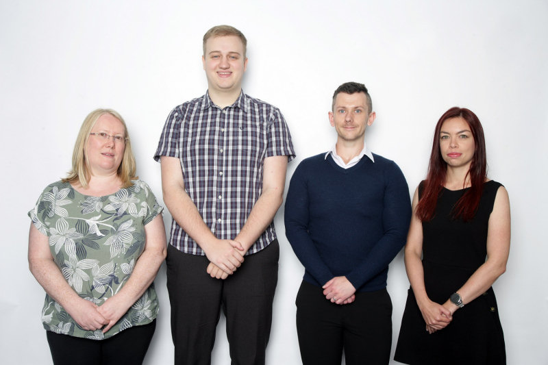 Members of the Chamber's international trade team, from left, Ingrid Griffiths, Will Higgins, Steven Rushton and Caroline Volles Loos