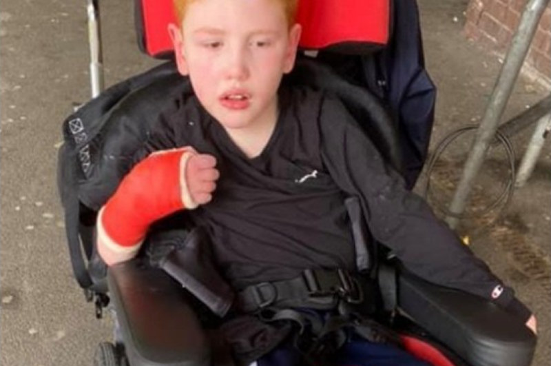 Fundraising is taking place to help cover the costs of Liam's physiotherapy sessions