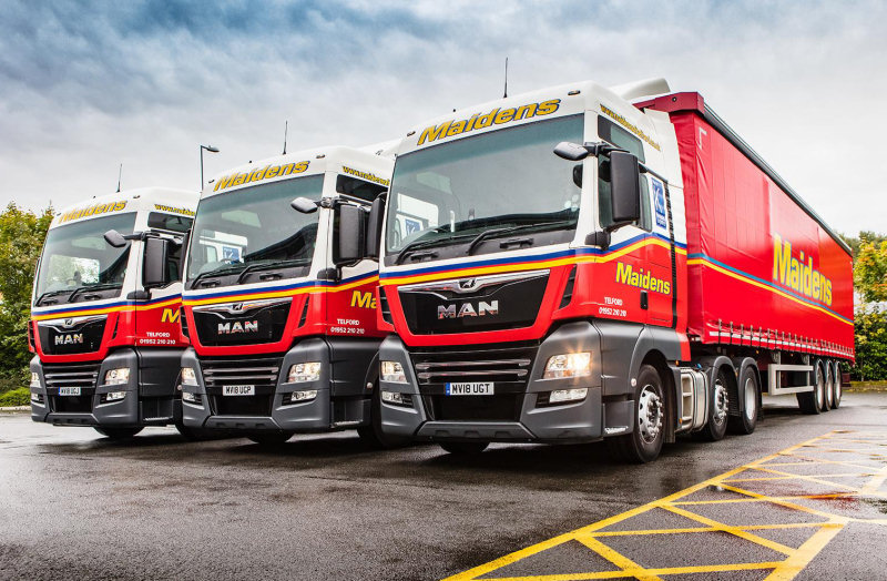 Maidens provides general haulage services including contract distribution, pallet distribution through Palletforce, and warehousing
