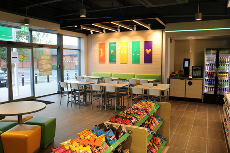 The store has a large customer area, so plenty of room for customers wishing to dine-in