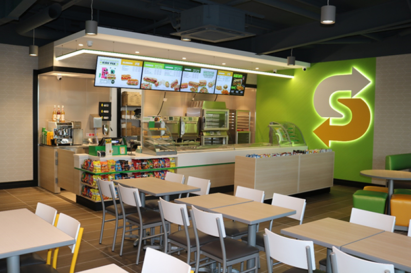 The new Subway store benefits from a customised delivery kitchen