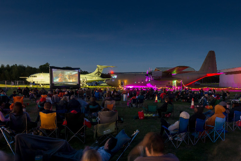 The Outdoor Cinema offers film fans an immersive cinema experience. Photo: ©Trustees of the Royal Air Force Museum