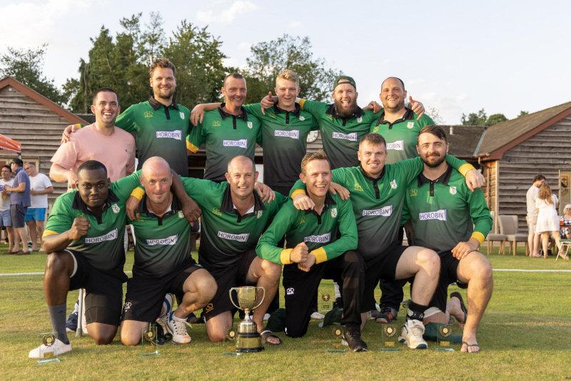 Quatt Cricket Club with the Premier 100 Trophy