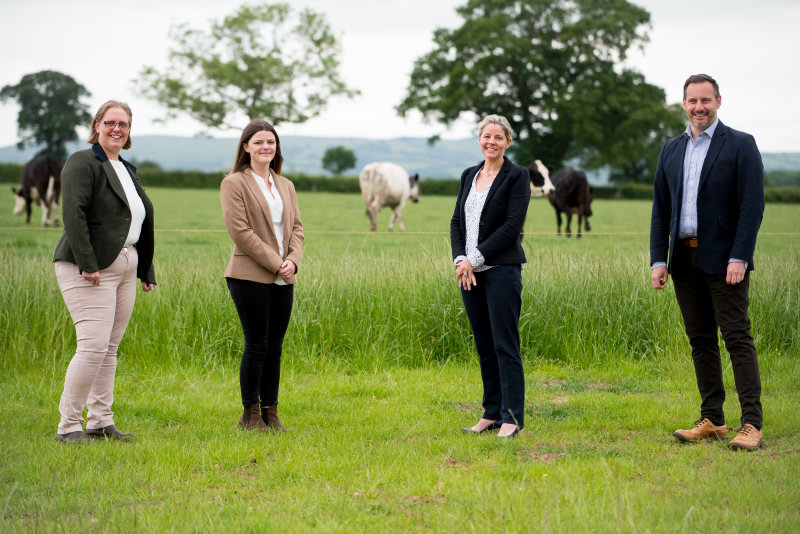 The agricultural & rural services team at FBC Manby Bowdler: Sarah Baugh, Megan Price, Anna Russell and Tom Devey
