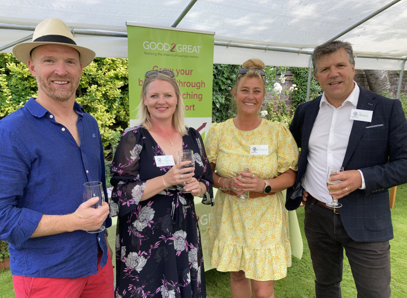 Pictured from left, Anton Gunter of Global Freight Services, Nicole Gunter of Nicole Gunter Wealth Services, Dr Angela Willis of Edvocation Services and Johnny Themans of Good2Great