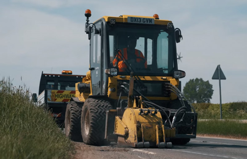 The Multihog in action on one of Shropshire's roads. Photo: Shropshire Council