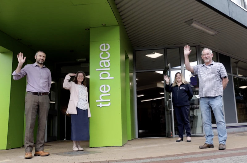 Staff at The Place - Telford look forward to welcoming visitors back. Photo: Telford & Wrekin Council