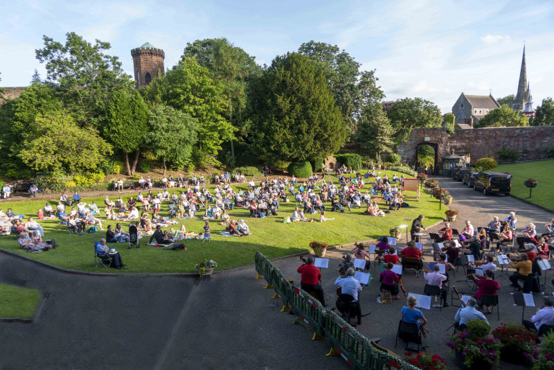 A Covid-capacity crowd enjoyed an evening of entertainment. Photo: Andy Bell