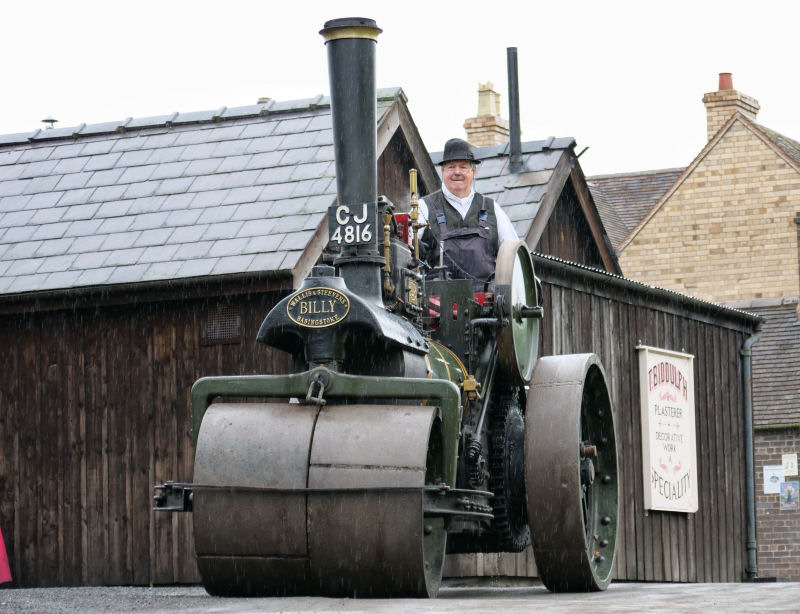 Billy, Blists Hill's own 1903 Wallis & Steevens steam roller which toured the site throughout the day