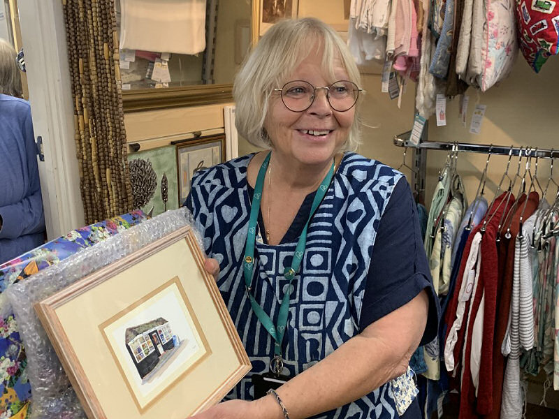 Gayna Woodland has helped raise thousands of pounds for charity