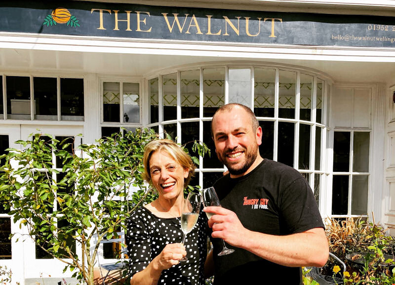 Karen Lee of The Walnut with guest chef Steve Guy