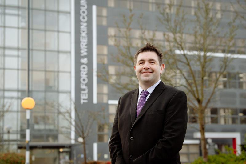 Councillor Shaun Davies, leader at Telford & Wrekin Council