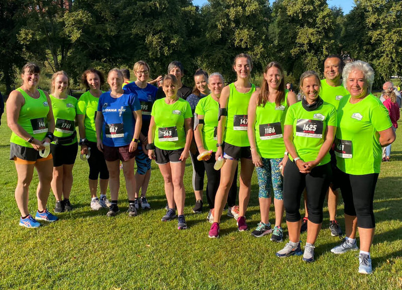 Bowring Runners celebrated their first anniversary by completing the Shrewsbury 10k