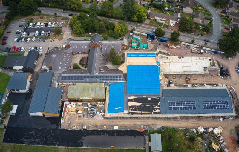 The new 'state of the art' school build at Harlescott Junior School. Photo: Pave Aways