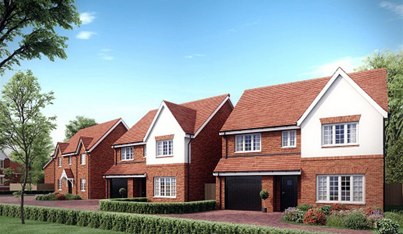 James Maddison Homes is now at work constructing the new homes on the site