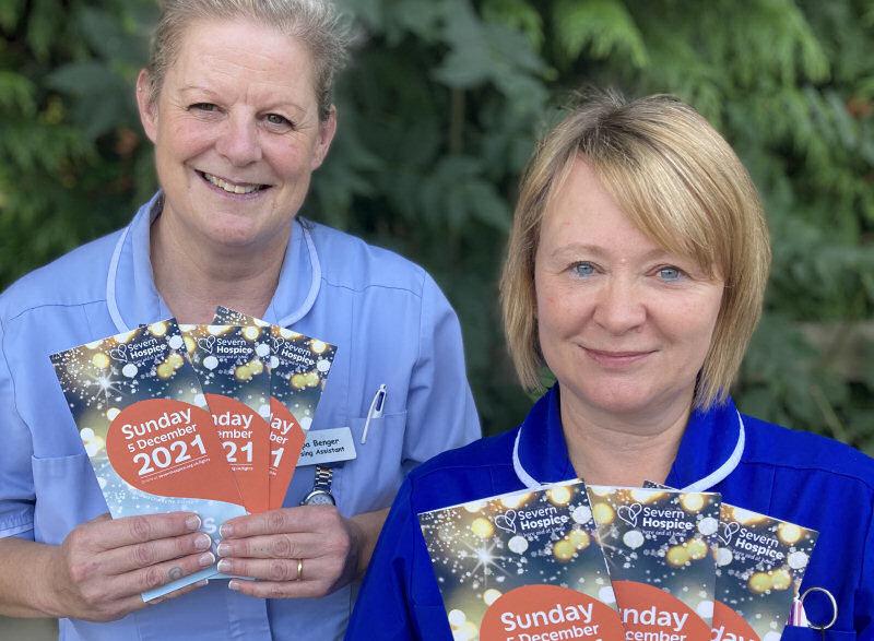 Nurses, Donna Hughes and Pippa Benger who work at Severn Hospice in Shrewsbury