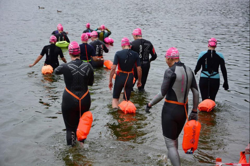 The Mere Mile saw almost 200 swimmers take the plunge