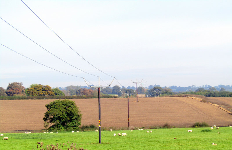 A new 21km wood pole overhead power line has been constructed from Oswestry to Wem