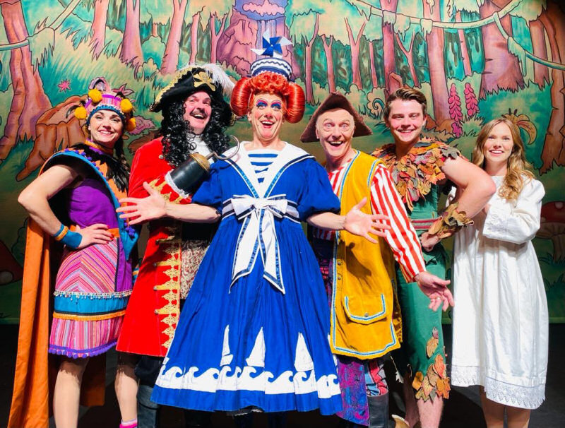 Starring in this year's pantomime at Theatre Severn are Katy Dean, Phil Stewart, Brad Fitt as Mrs Smee, Eric Smith, Harry Winchester and Victoria McCabe