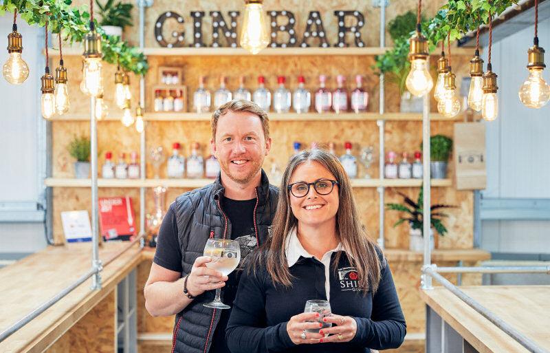 Emma and Gareth Glynn from The Shropshire Distillery