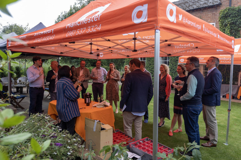 Guests were taken on a tour and experienced wine tasting at the garden of Hugh Strickland, Corporate and Commercial Partner at Aaron & Partners Solicitors
