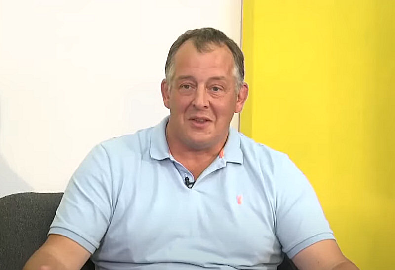 Shropshire Councillor Steve Charmley appearing on a recent edition of Shropshire Business Live TV