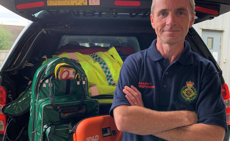 Peter Corr, a Telford Community First Responder, became a volunteer lifesaver earlier this year