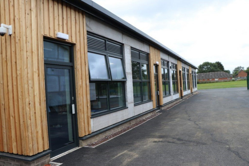 The first phase of the new build at Harlescott Junior School. Photo: Pave Aways