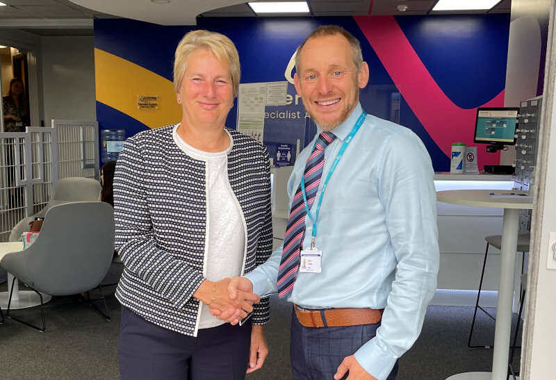 Dr Gill Eatough welcomes Brian Thomas to the Learning Community Trust, and Severndale Academy