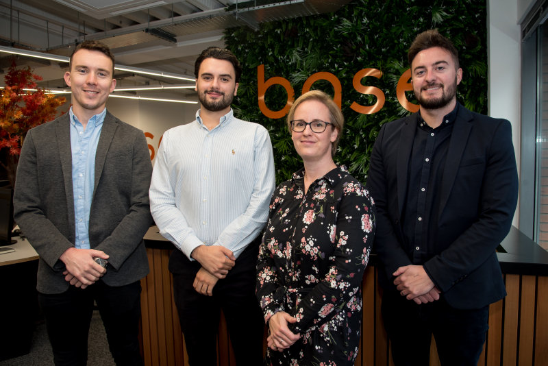 Aaron Williams, Harry Braid, Jenny Powell and Jake Boardman – the new recruits to Base Architecture
