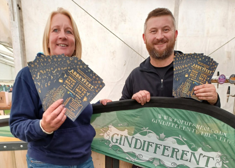 Helen Knight, development manager for Lingen Davies, with Darren Tomkins of Gindifferent