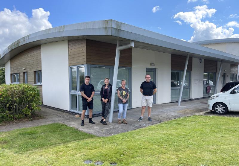 Derwen College's new site, at Ludlow's Eco Business Park