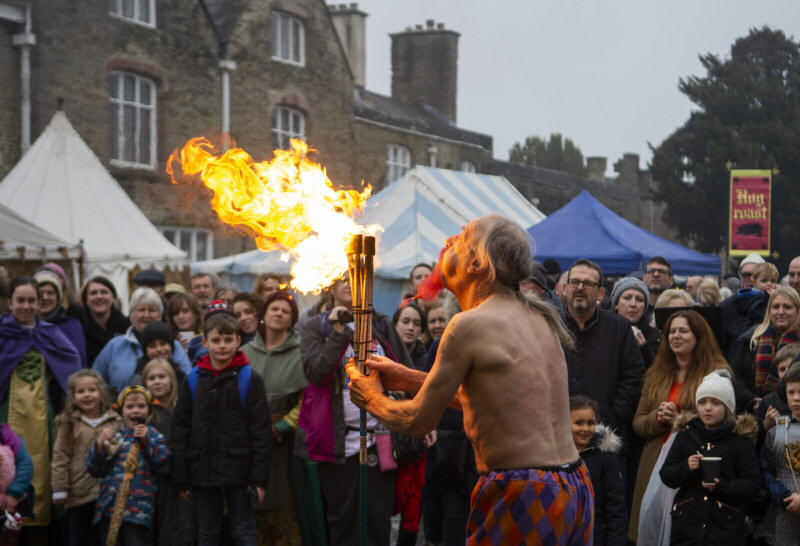 Live entertainment at Ludlow Medieval Christmas Fayre. Photo: Ashleigh Cadet