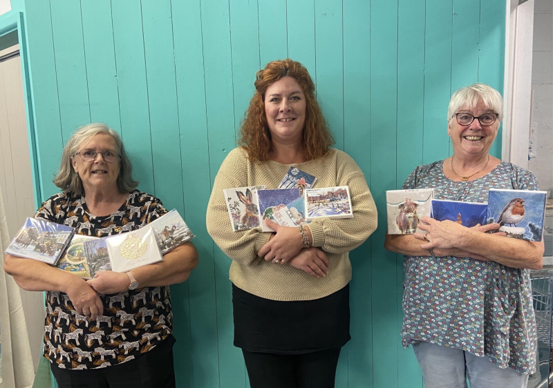 Severn Hospice volunteers Hilary Adlington and Sandra Law with Lorraine Clorley of the hospice Superstore in Beacalls Lane, Shrewsbury