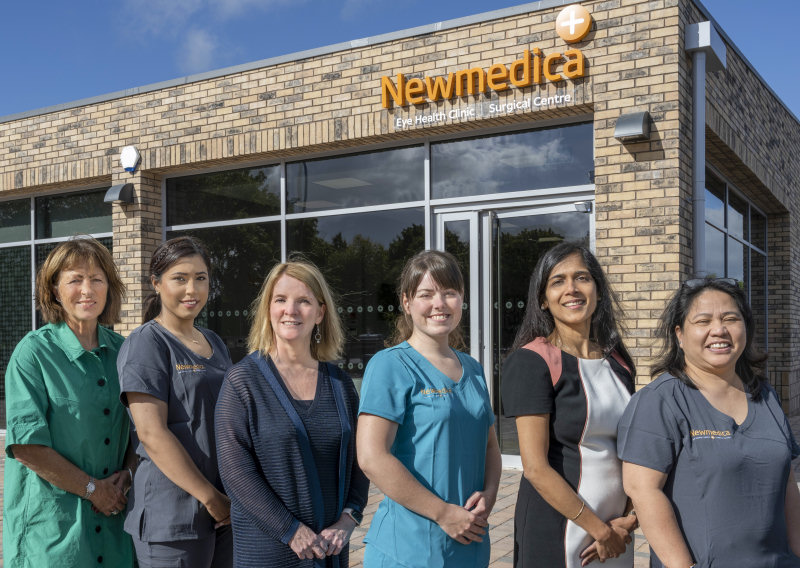 The Newmedica Shrewsbury team outside the new state-of-the-art facility
